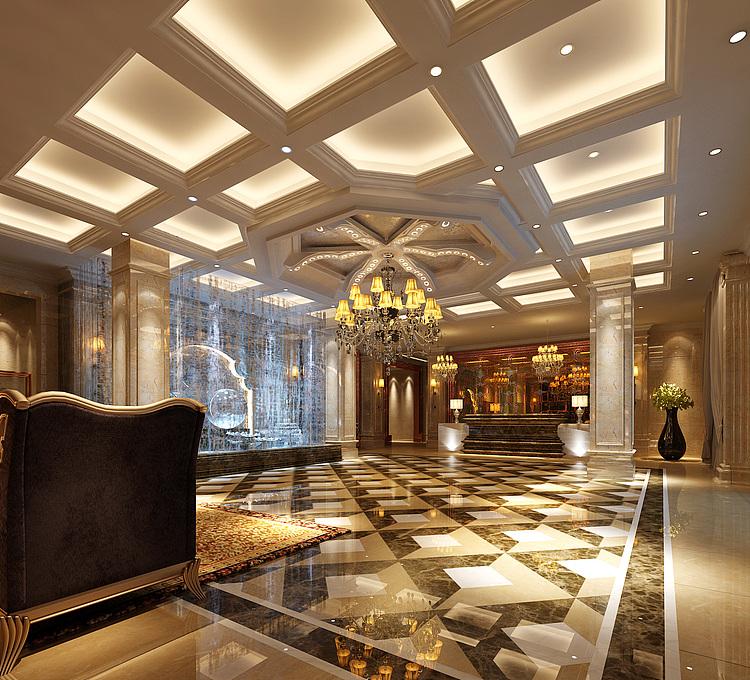 后现代风格的酒店大堂