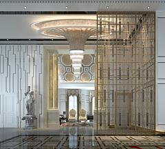酒店大堂隔断3D模型