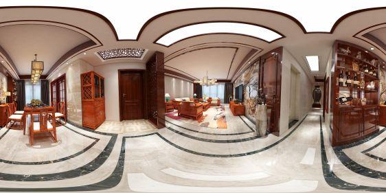 中式家装全景模型