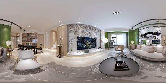 现代客餐厅全景3d模型