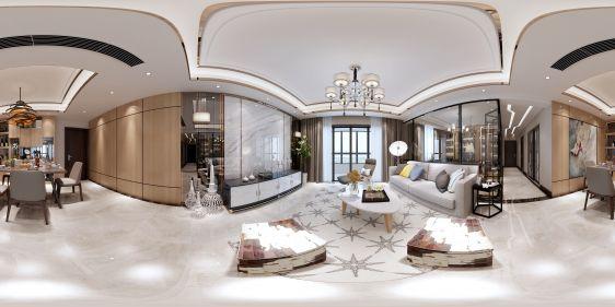 新古典客餐厅全景3d模型