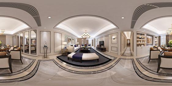 新古典客餐厅全景模型