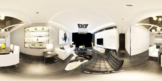 简约现代室内家装全景3d模型