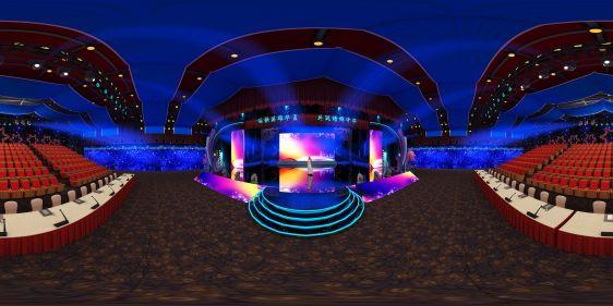 晚会舞台全景3d模型