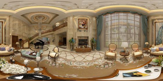 欧式别墅全景模型
