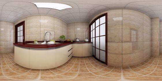 新中式厨房全景模型