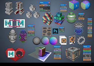 Maya插件-18個實用設計制作工具 Gumroad – Mel Script Pack Win/Mac