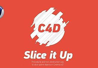 C4D插件:碎片切割插件 + 使用教程 Rendertom Slice It Up v1.2.2