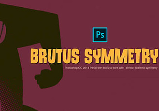 PS插件-实时镜像对称辅助插件 AD Brutus Symmetry v1.7 For Photoshop Win/Mac