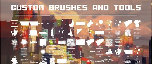 PS笔刷预设 Gumroad – Brush Set by Alexis Franklin and Stephane Wootha for Photoshop