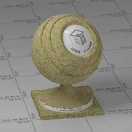 黄色草地Vary材质球球