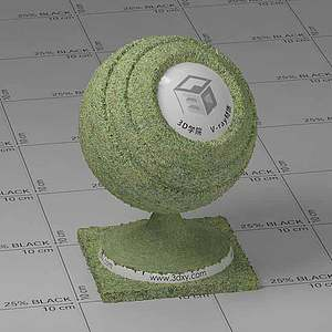 绿色草地Vary材质球球