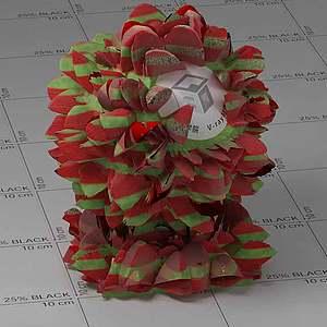 红色花Vary材质球球