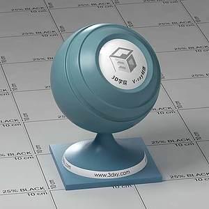 藍色半透明塑料Vary材質球球