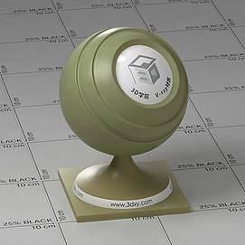 黄绿色半透明塑料Vary材质球球