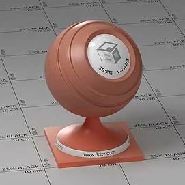 红色半透明塑料Vary材质球球