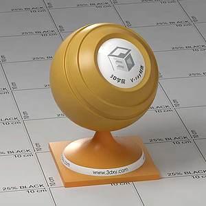 黃色半透明塑料Vary材質球球