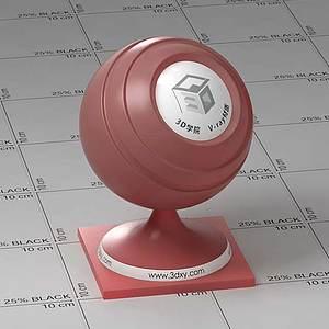 紅色半透明塑料Vary材質球球