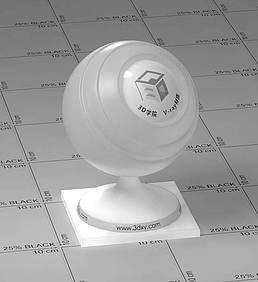 白色透明塑料vray材质