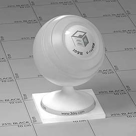 白色透明塑料Vary材质球球