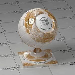龍鱗Vary材質球球