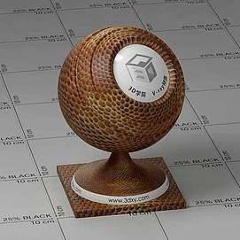 鳄鱼皮Vary材质球球