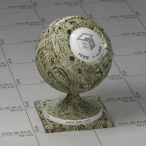 鱷魚皮Vary材質球球