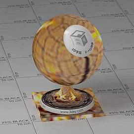 火堆Vary材质球