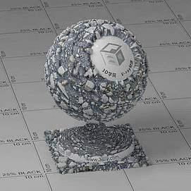 沥青Vary材质球