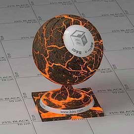 岩浆Vary材质球