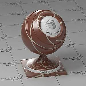 巧克力Vary材质球