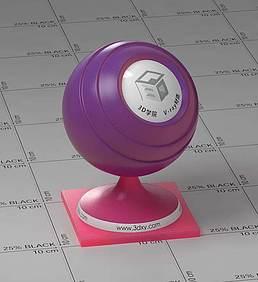 红紫色半透明塑料vray材质