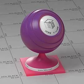 红紫色半透明塑料Vary材质球球