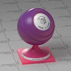 紅紫色半透明塑料Vary材質球球