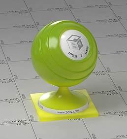 绿色半透明塑料vray材质