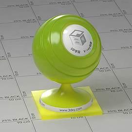 绿色半透明塑料Vary材质球球