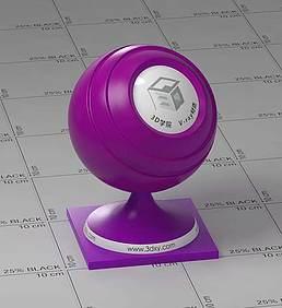 紫色半透明塑料vray材质