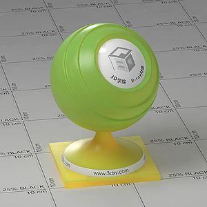 綠色半透明塑料Vary材質球球