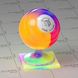 彩色半透明塑料Vary材质球球