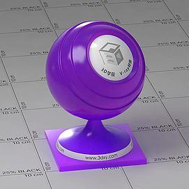 紫色半透明塑料Vary材质球球