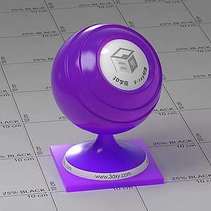 紫色半透明塑料Vary材質球球
