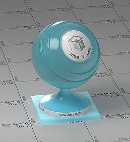 浅蓝色半透明塑料vray材质