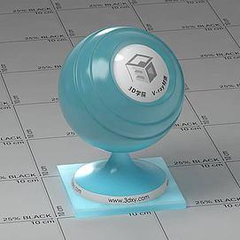 浅蓝色半透明塑料Vary材质球球