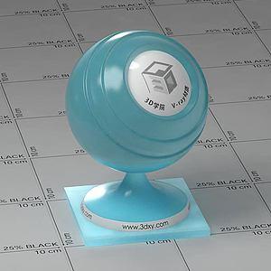 淺藍色半透明塑料Vary材質球球
