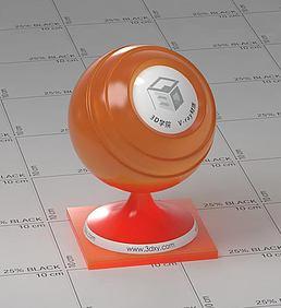 橙色半透明塑料vray材质