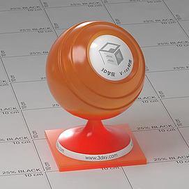 橙色半透明塑料Vary材质球球