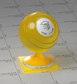 黄色半透明塑料vray材质