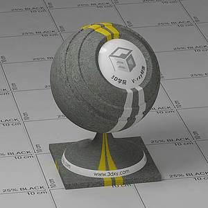 道路Vary材质球球