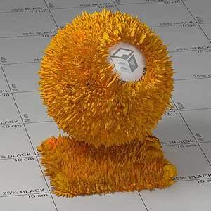 炸条Vary材质球球