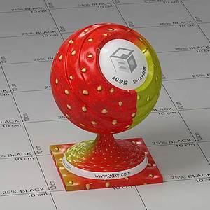 草莓Vary材質球球